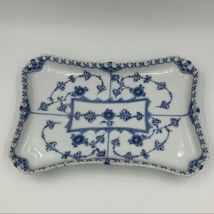 Royal Copenhagen Tray Blue Fluted Full Lace